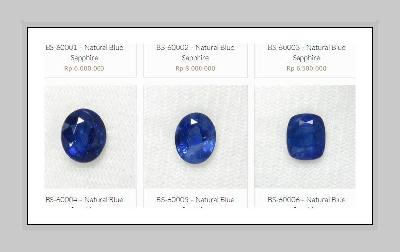 Jual blue sapphire murah