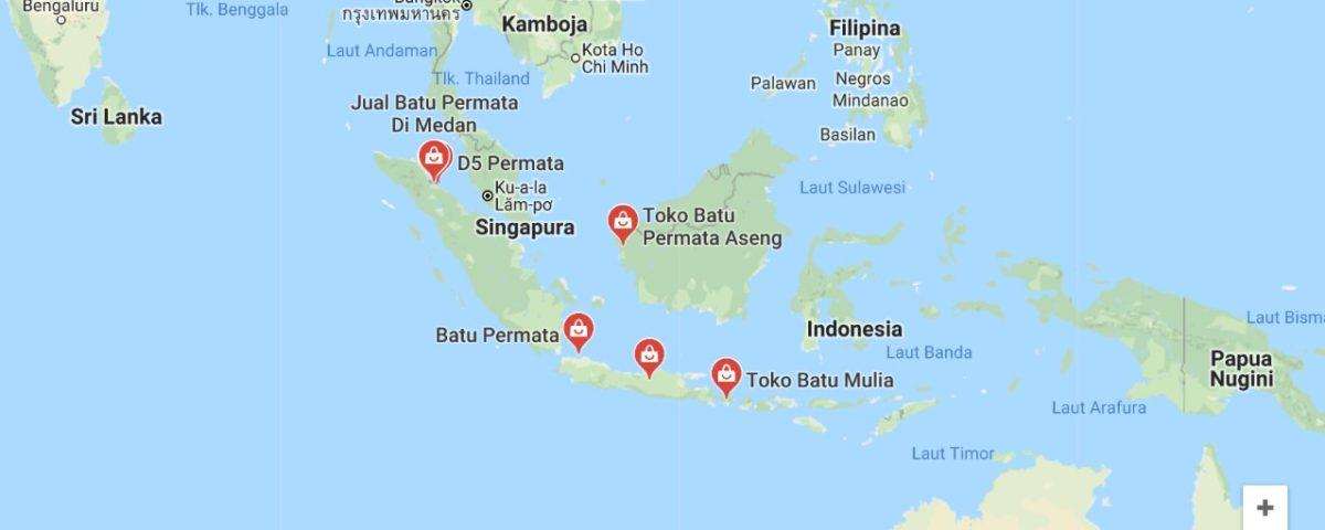 Daftar toko batu permata di Indonesia