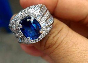 Cincin Silver Blue Sapphire